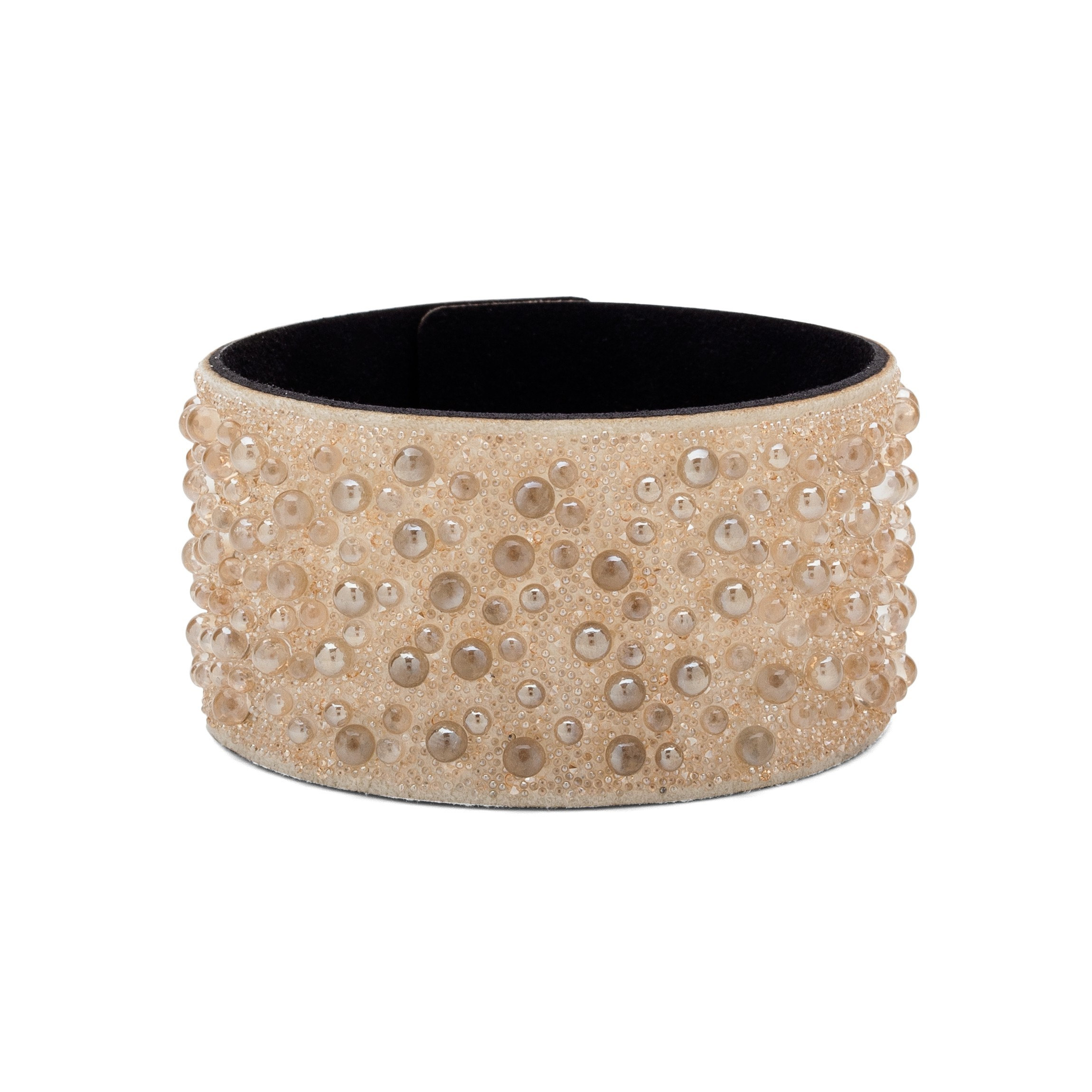 BRACELET WITH ALCANTARA AND SWAROVSKI CRY GALUCHAT STONES – MODEL 8
