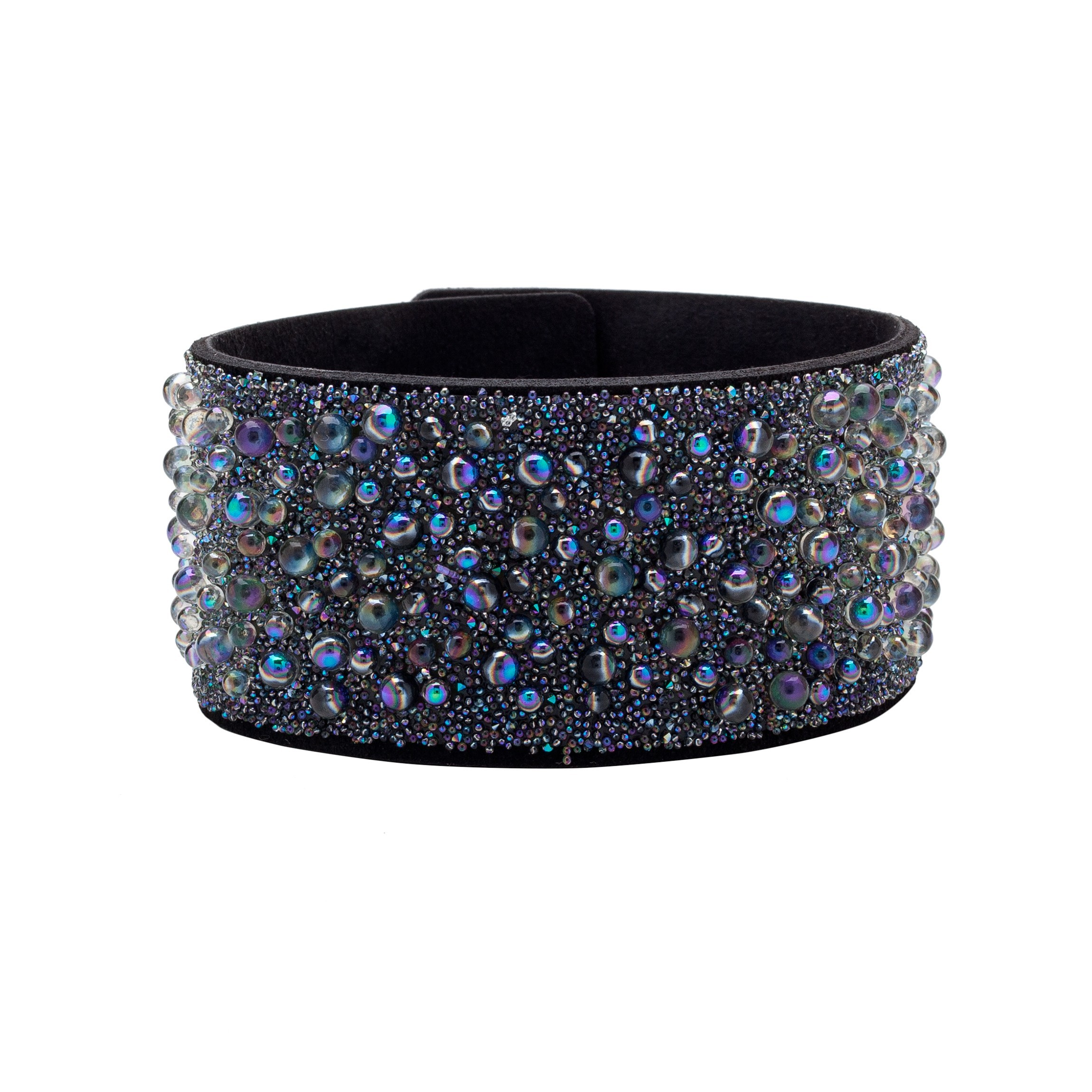 BRACELET WITH ALCANTARA AND SWAROVSKI CRY GALUCHAT STONES – MODEL 9