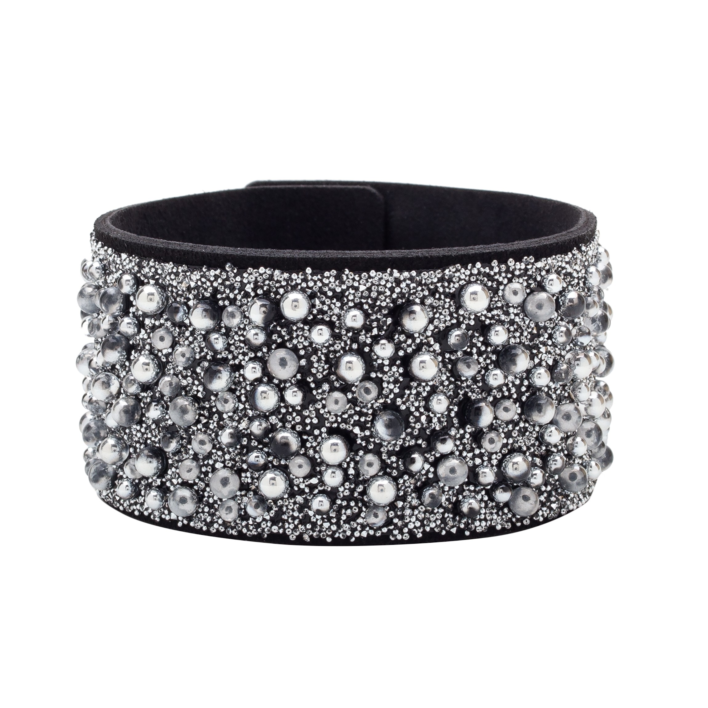 BRACELET WITH ALCANTARA AND SWAROVSKI CRY GALUCHAT STONES – MODEL 10