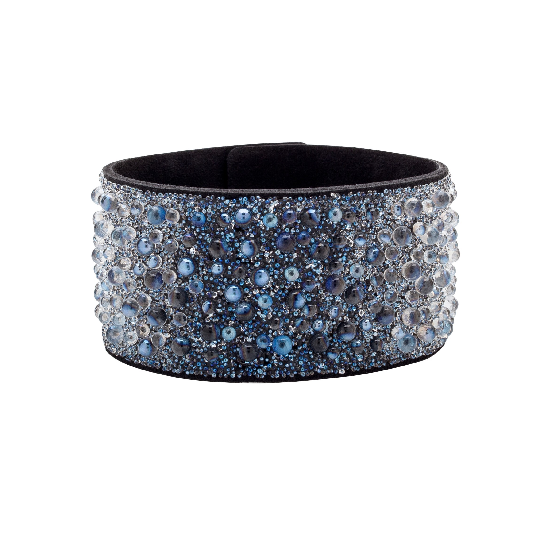 BRACELET WITH ALCANTARA AND SWAROVSKI CRY GALUCHAT STONES – MODEL 11