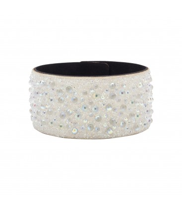 BRACELET WITH ALCANTARA AND SWAROVSKI CRY GALUCHAT STONES – MODEL 12