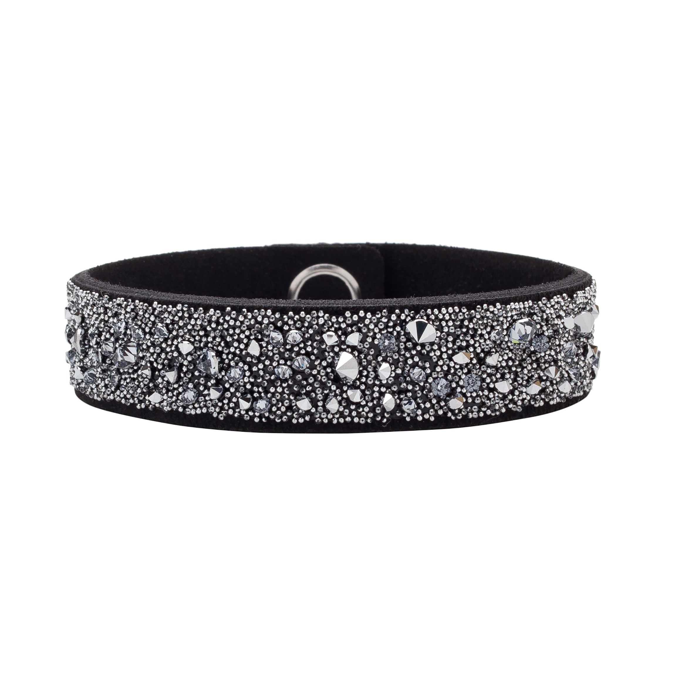 BRACELET WITH ALCANTARA AND SWAROVSKI CRY MEDLEY – MODEL 14
