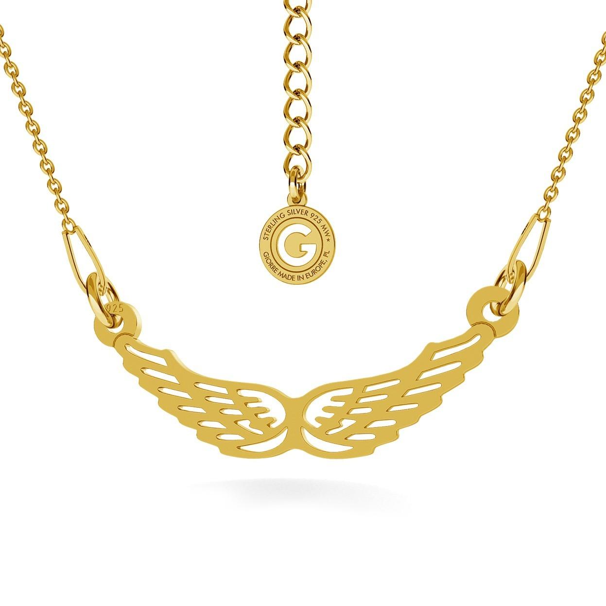 Srebrny naszyjnik celebrytka skrzydła 925