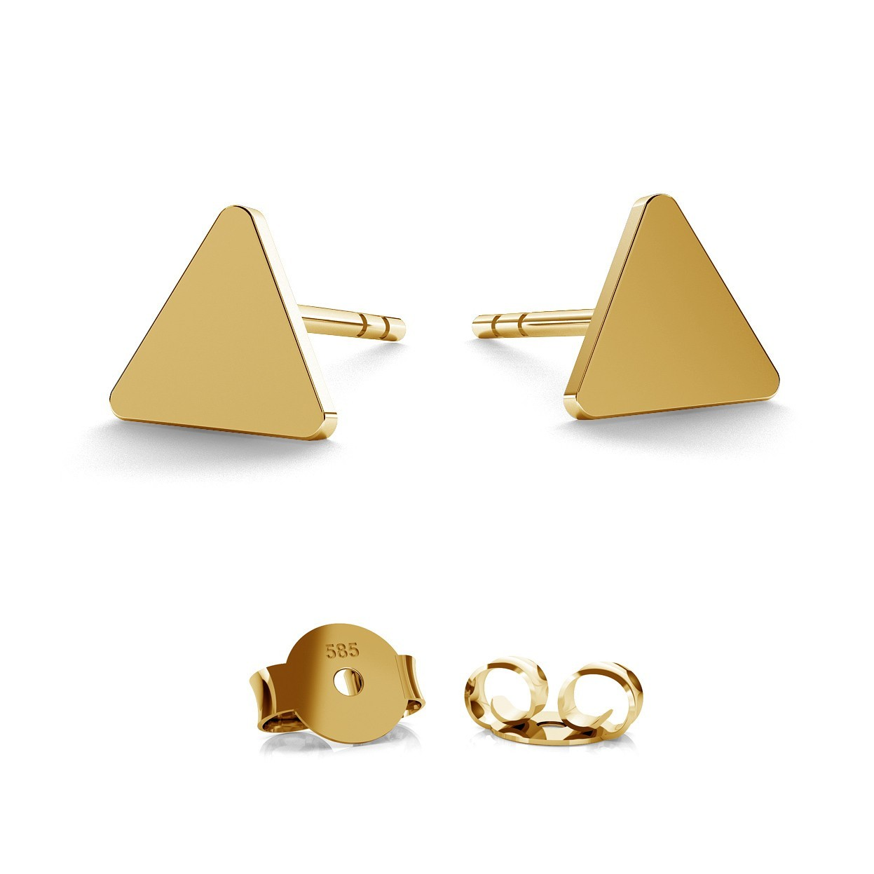 14K GOLD TRIANGLE EARRING, MODEL 935