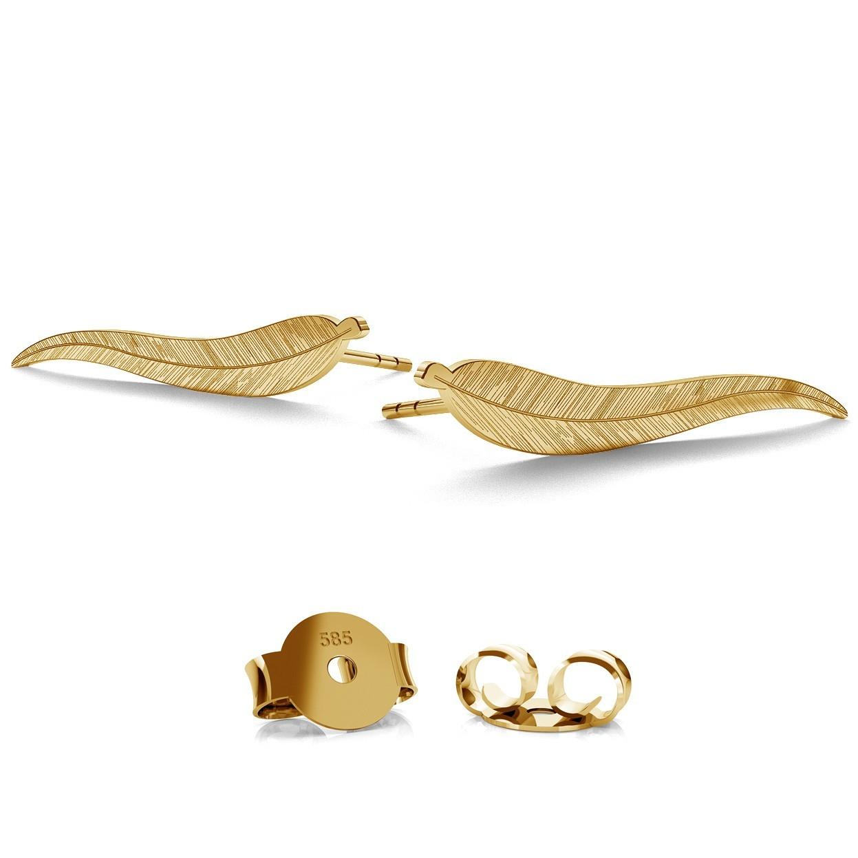 14K GOLD BLATT OHRRINGE, MODELL 791