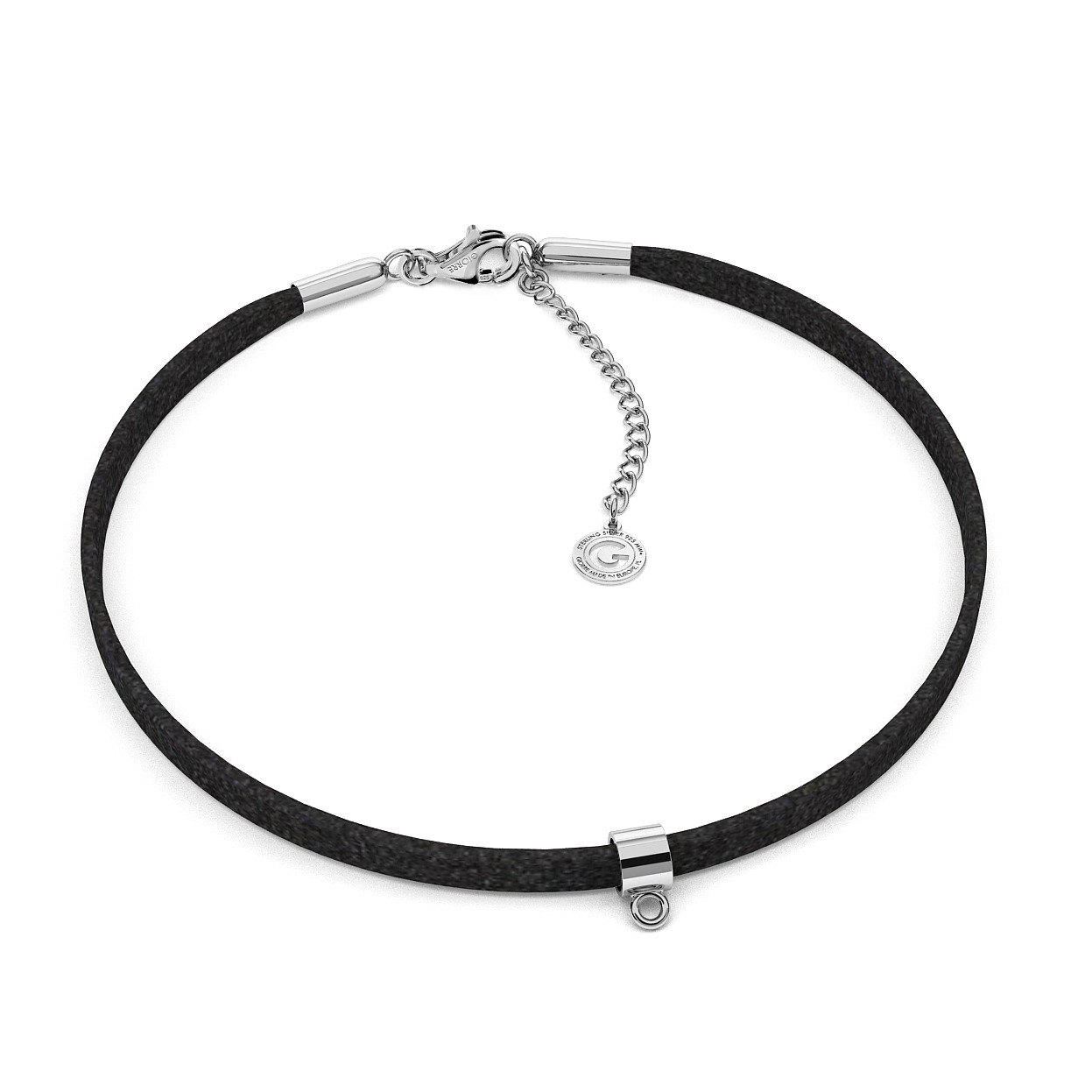 CHOKER NECKLACE GIORRE WITH ALCANTARA, BASE FOR CHARMS