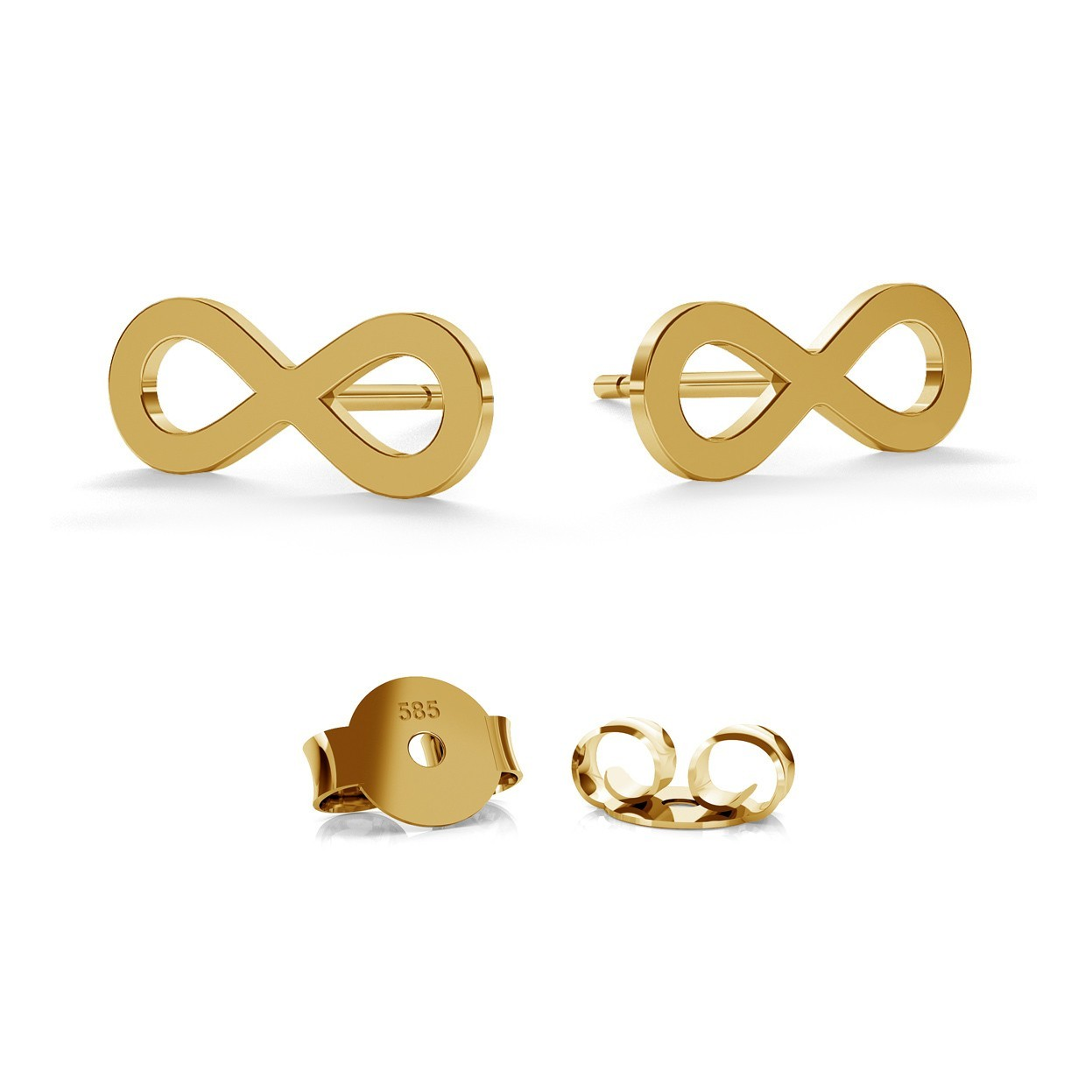 14K GOLD INFINITY SIGN EARRING, MODEL 589