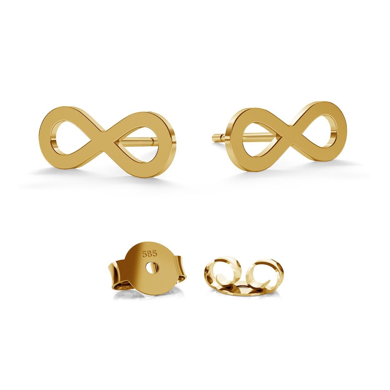 14K GOLD INFINITY SIGN EARRING, MODEL 589