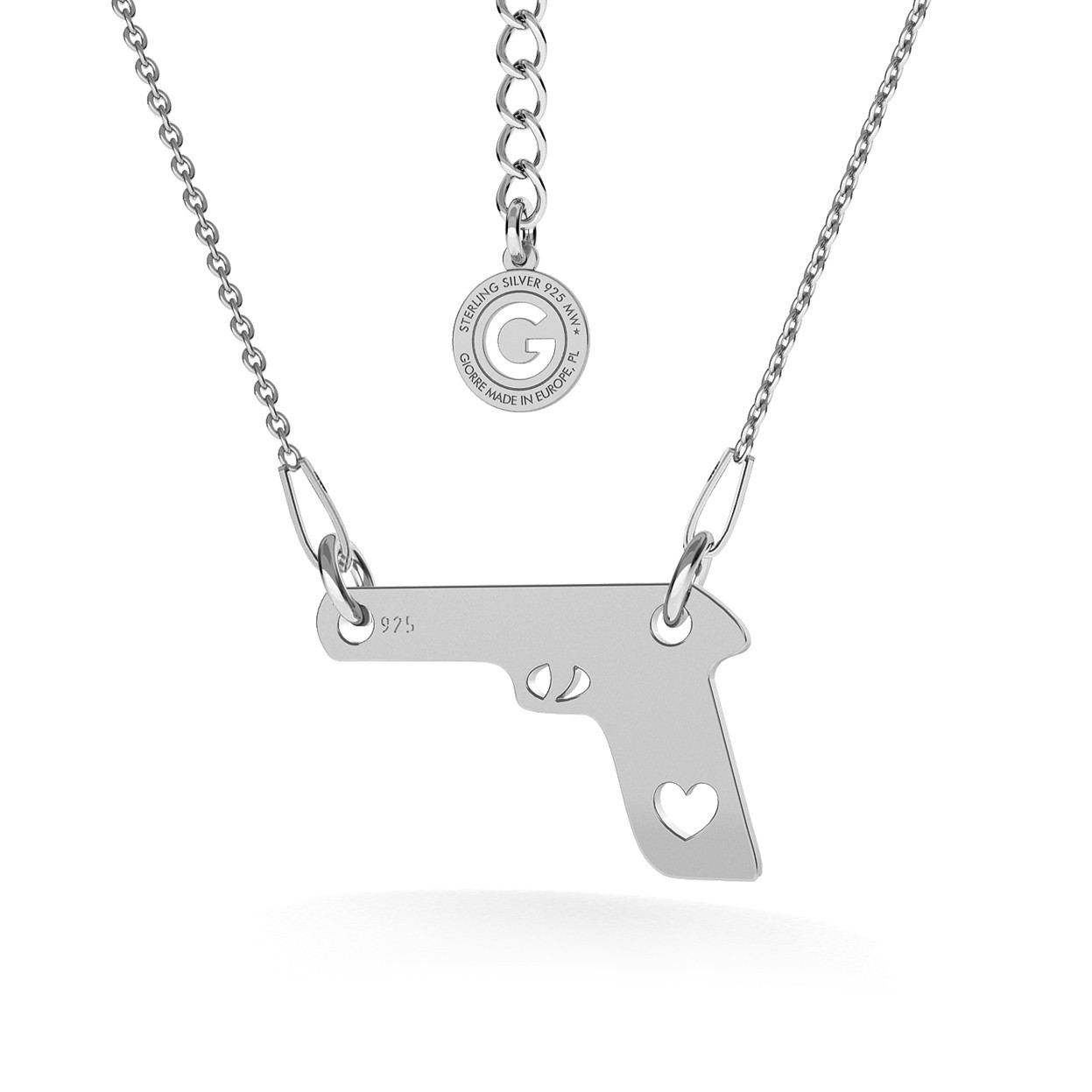 GUN WITH HEART NECKLACE