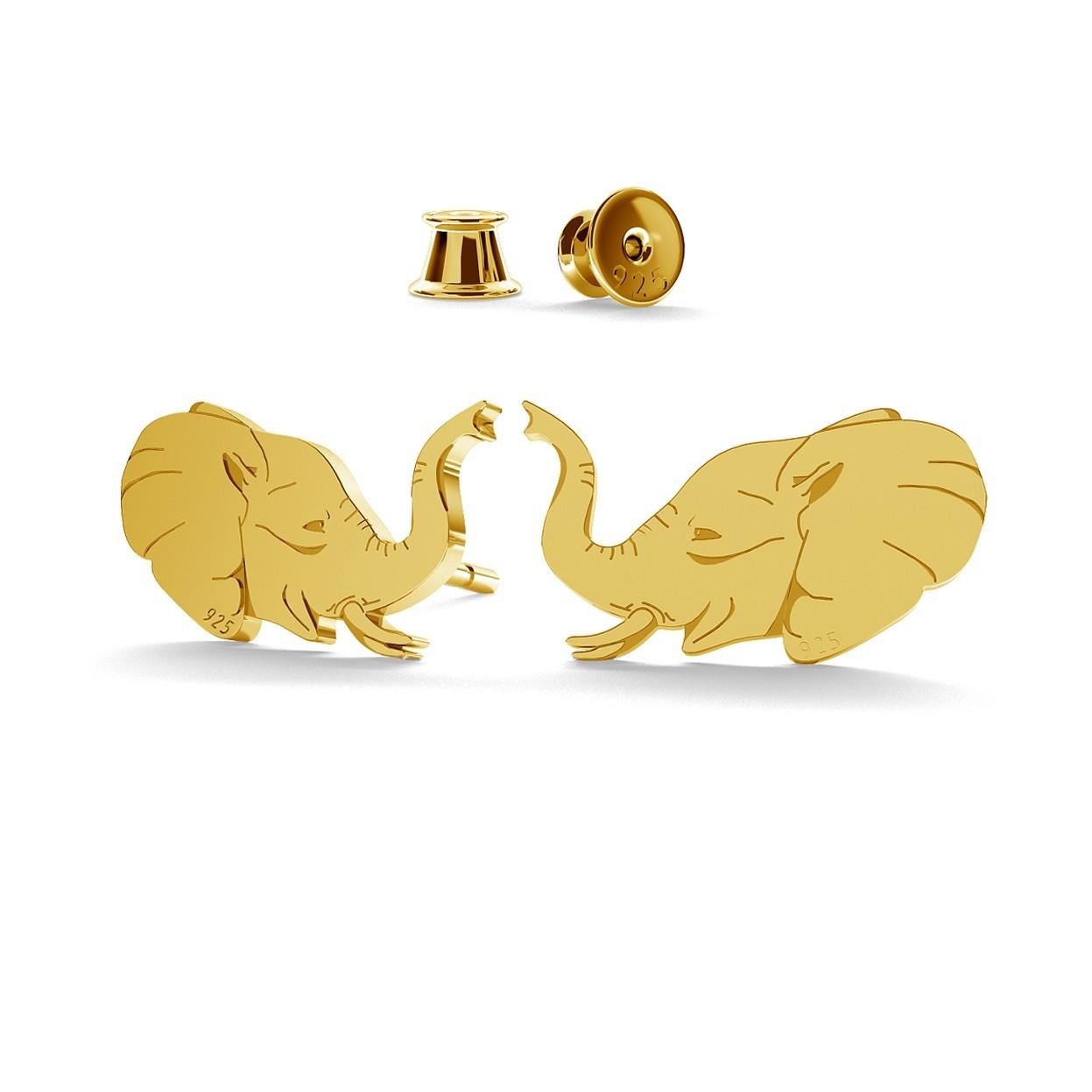 ELEPHANTE DES BOUCLES D`OREILLES