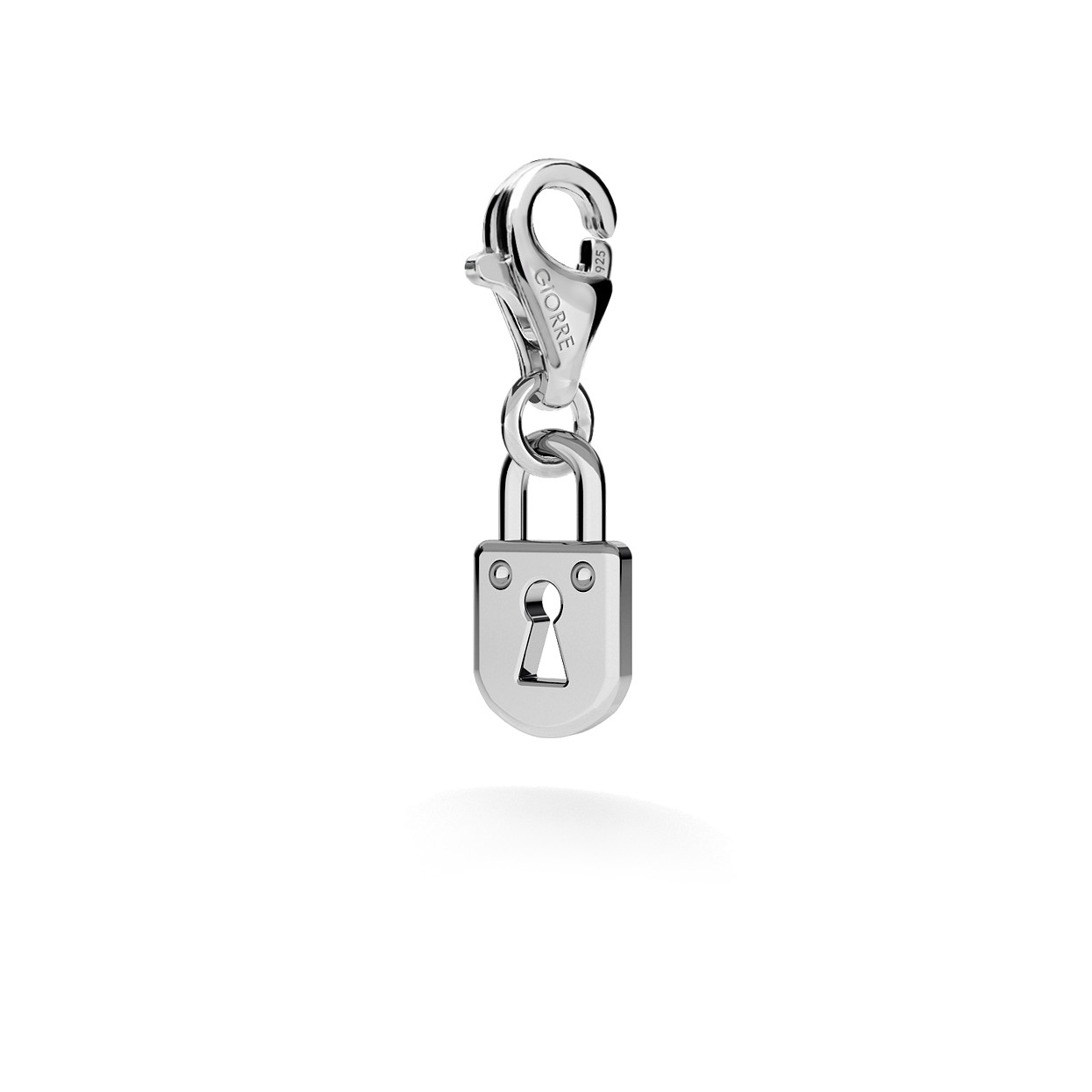 CHARM 89, PADLOCK, SILVER 925, RHODIUM OR GOLD PLATED