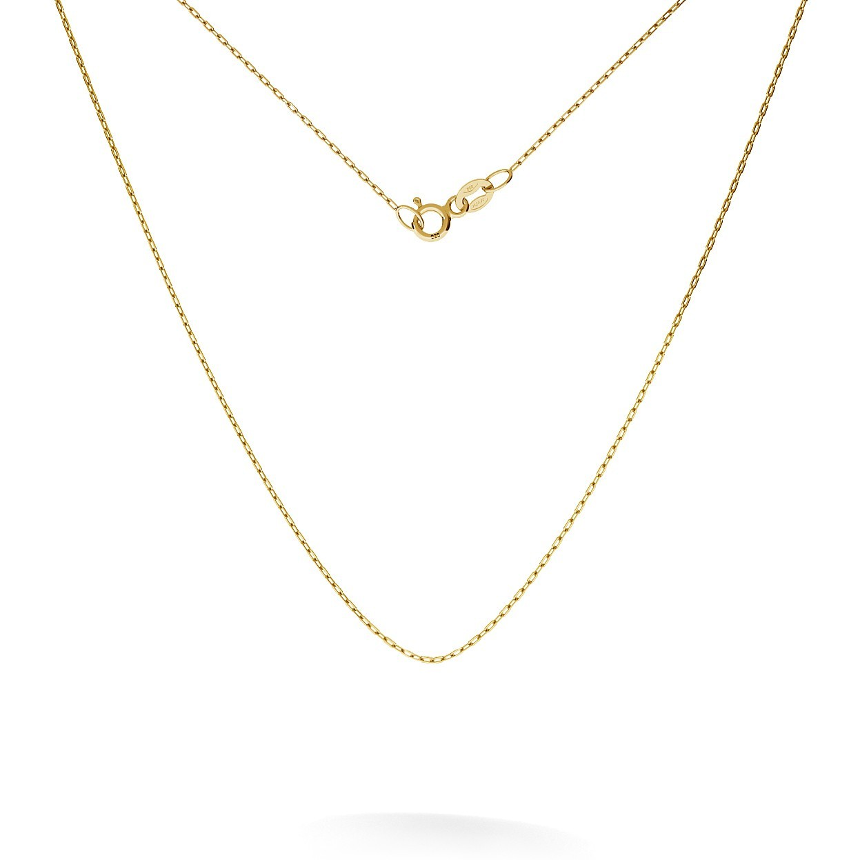 Złoty łańcuszek ankier 45 cm, au 585