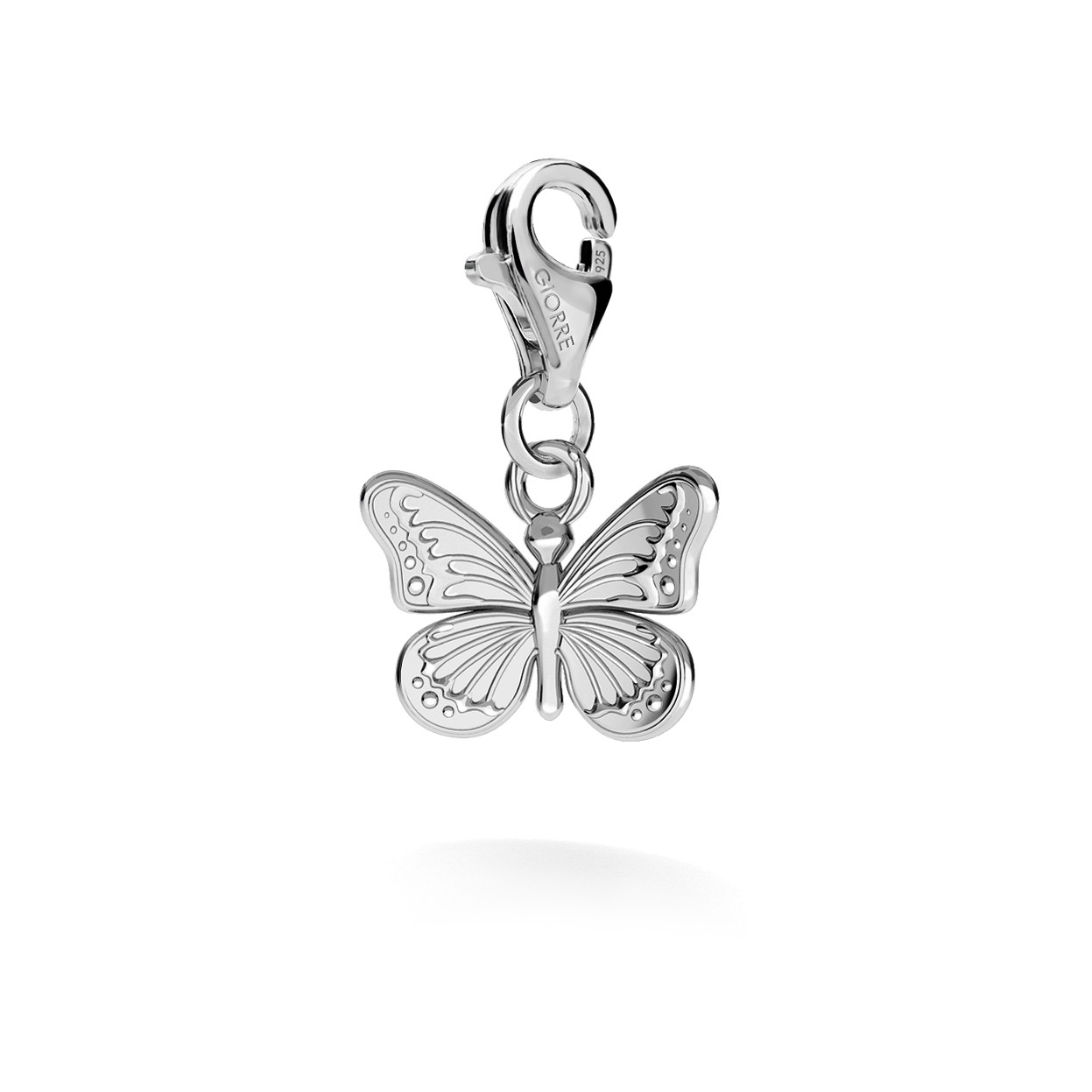 CHARM 86, BUTTERFLY, SILVER 925,  RHODIUM OR GOLD PLATED