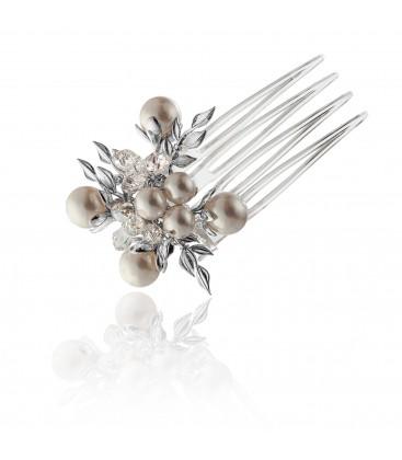Ślubny grzebyczek do włosów z kryształami – model 1