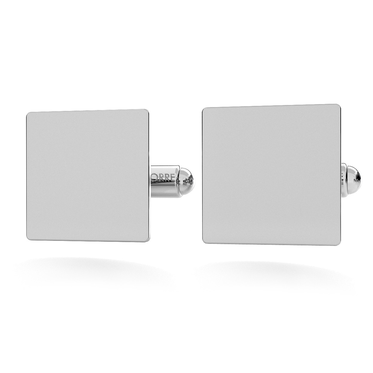 SQUARE CUFFLINKS WITH ENGRAVE,  SILVER 925,  RHODIUM OR GOLD PLATED