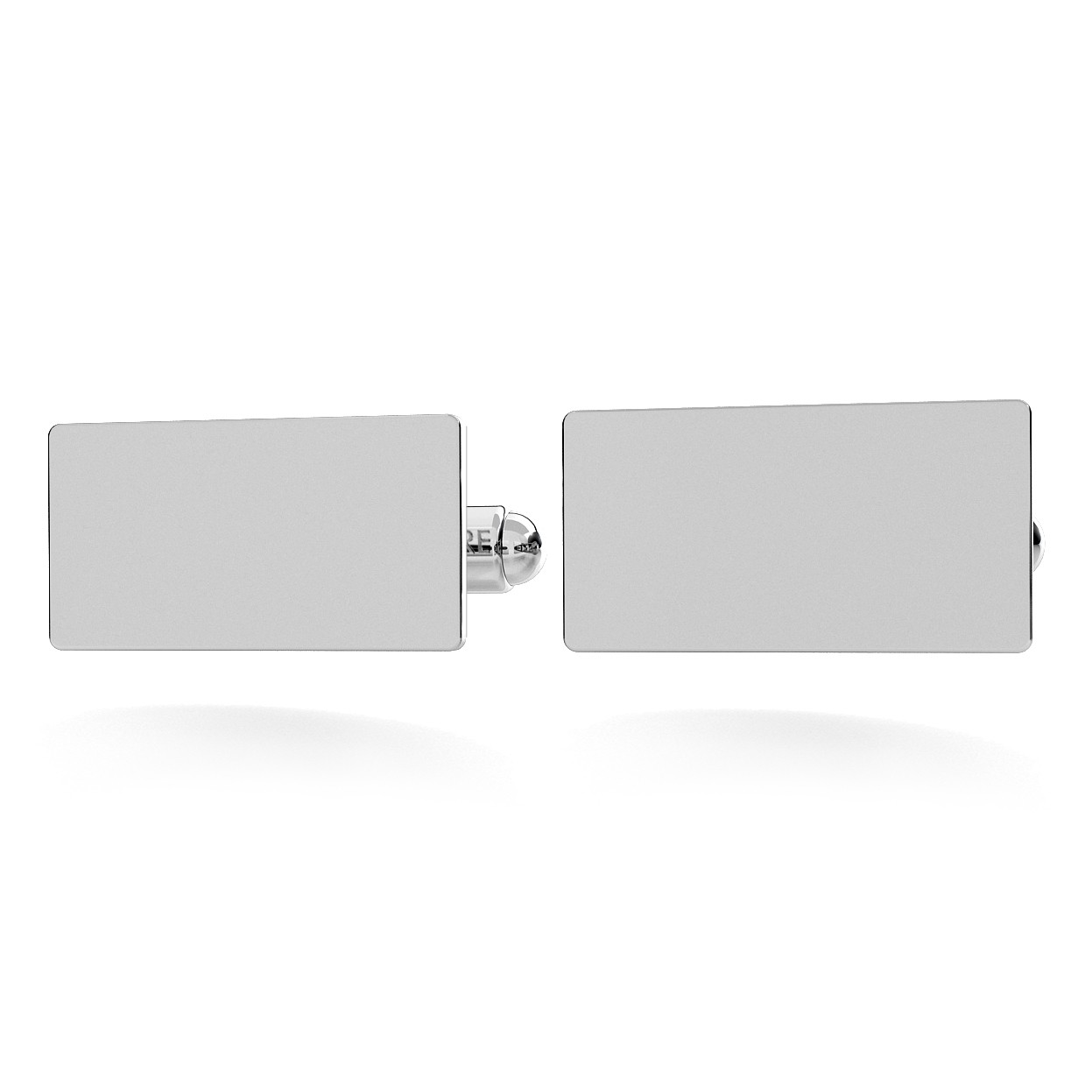 RECTANGLE CUFFLINKS WITH ENGRAVE, SILVER 925, RHODIUM OR GOLD PLATED
