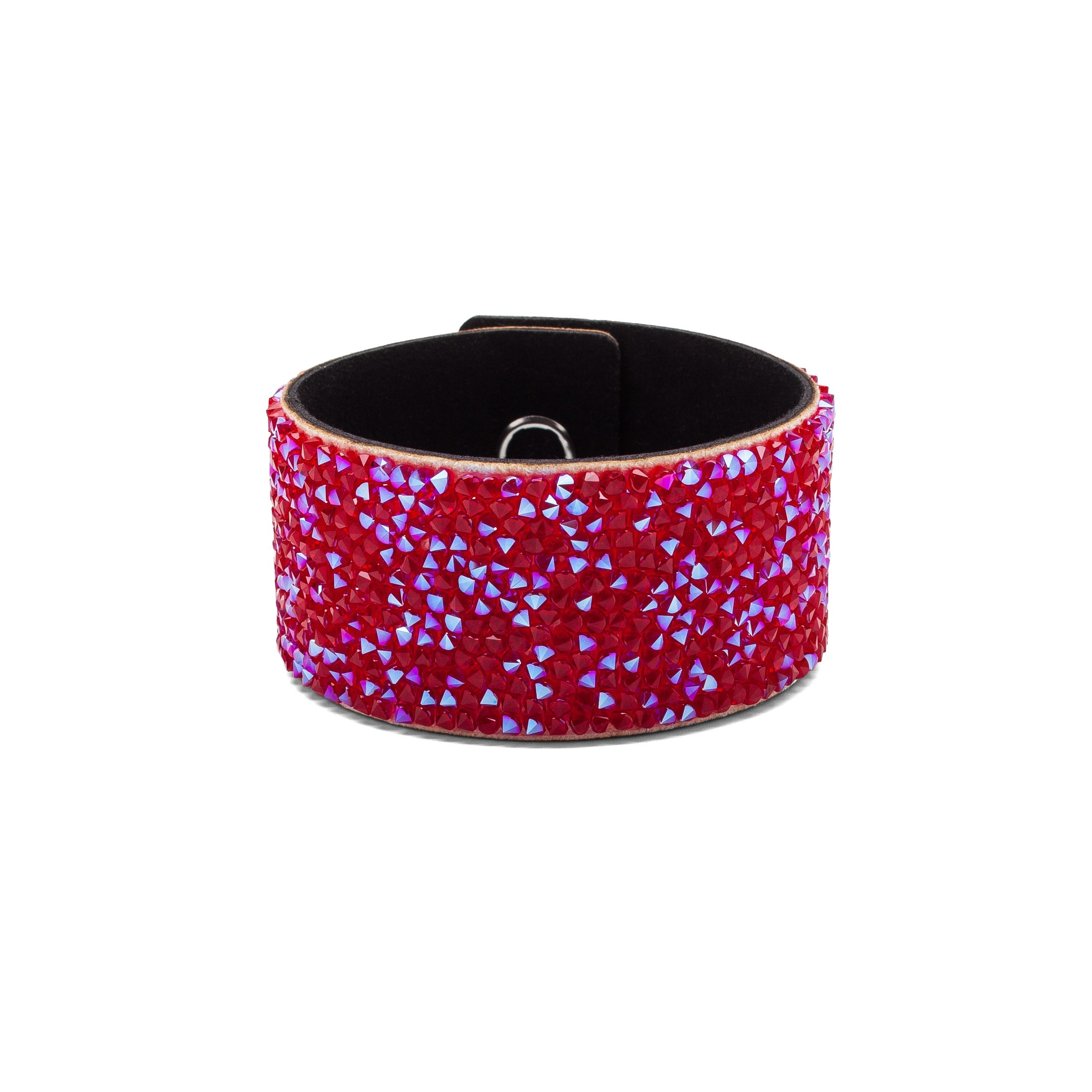 BRACELET WITH ALCANTARA AND SWAROVSKI CRYSTAL ROCKS – MODEL 16