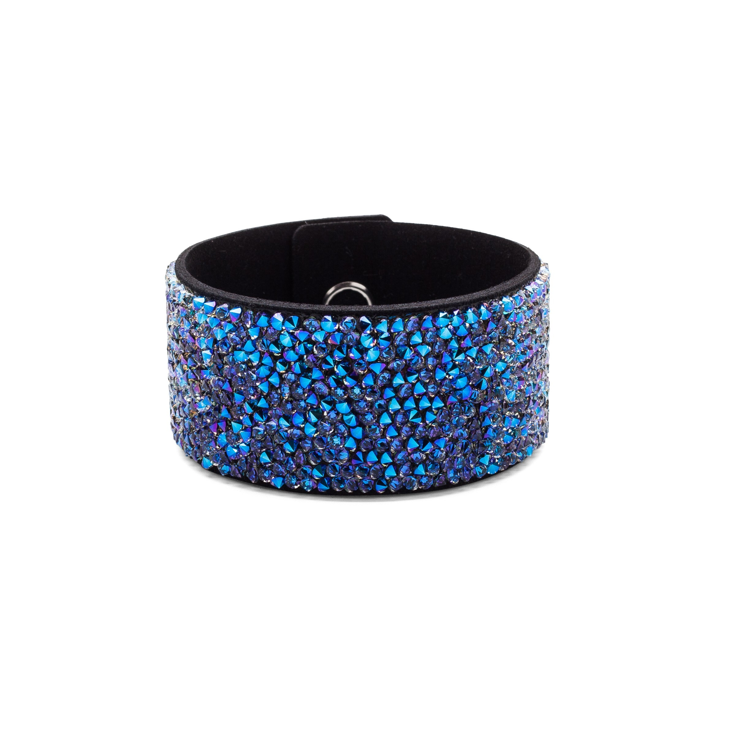 BRACELET WITH ALCANTARA AND SWAROVSKI CRYSTAL ROCKS – MODEL 19