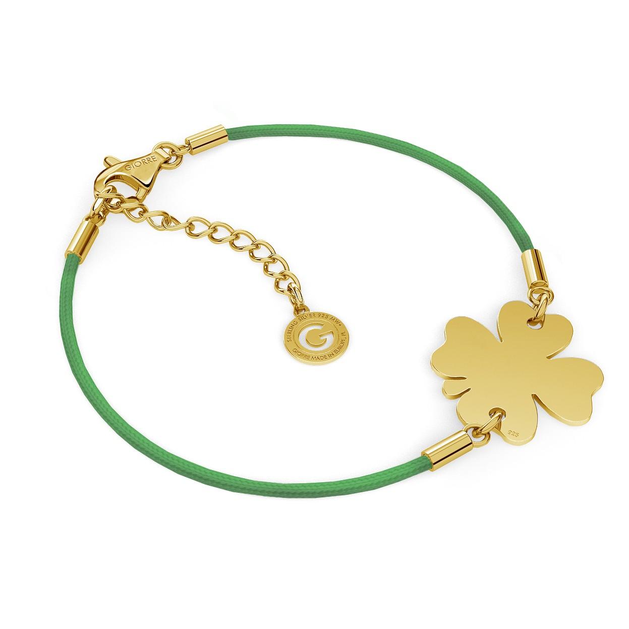 Personalized clover bracelet