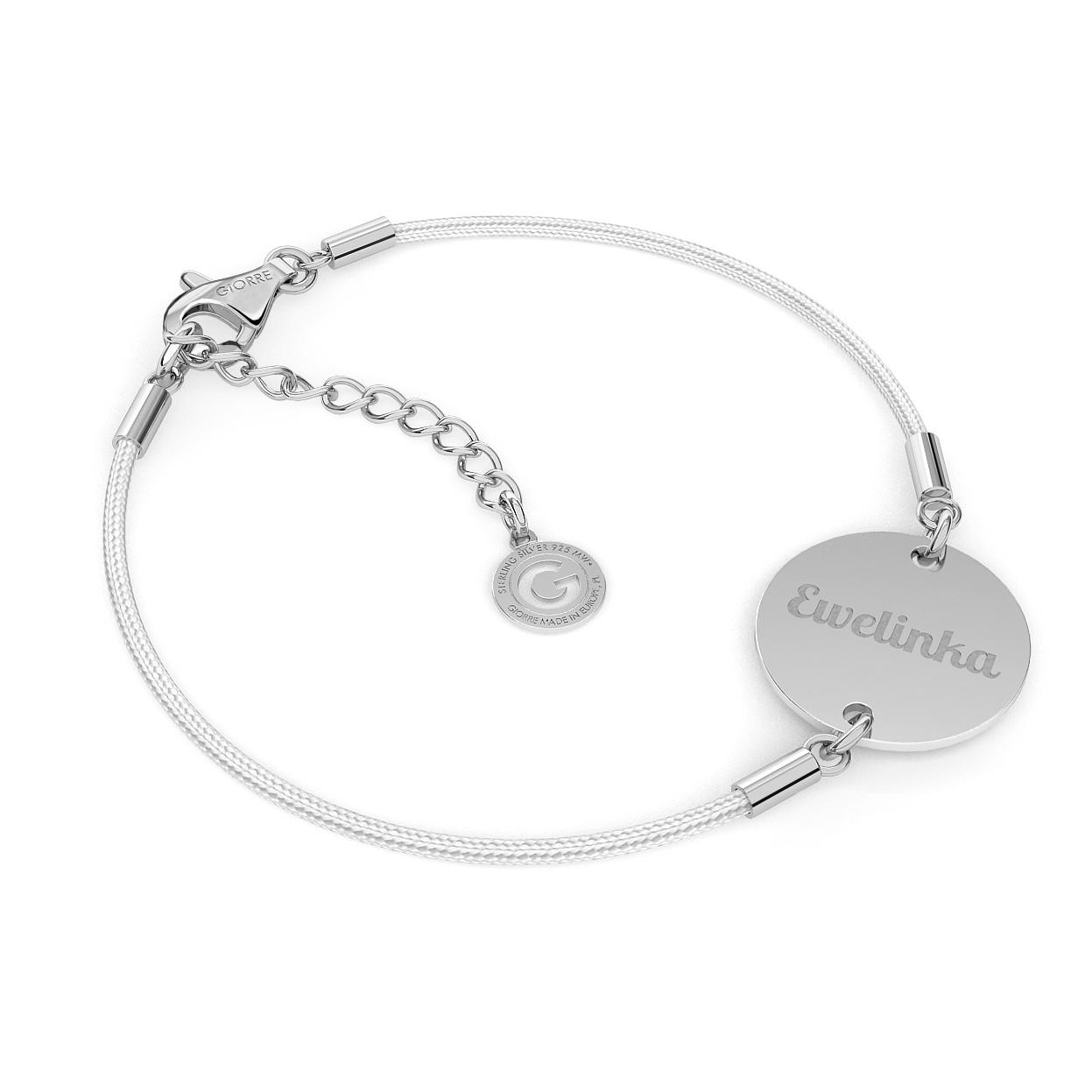 Personalized round tag bracelet