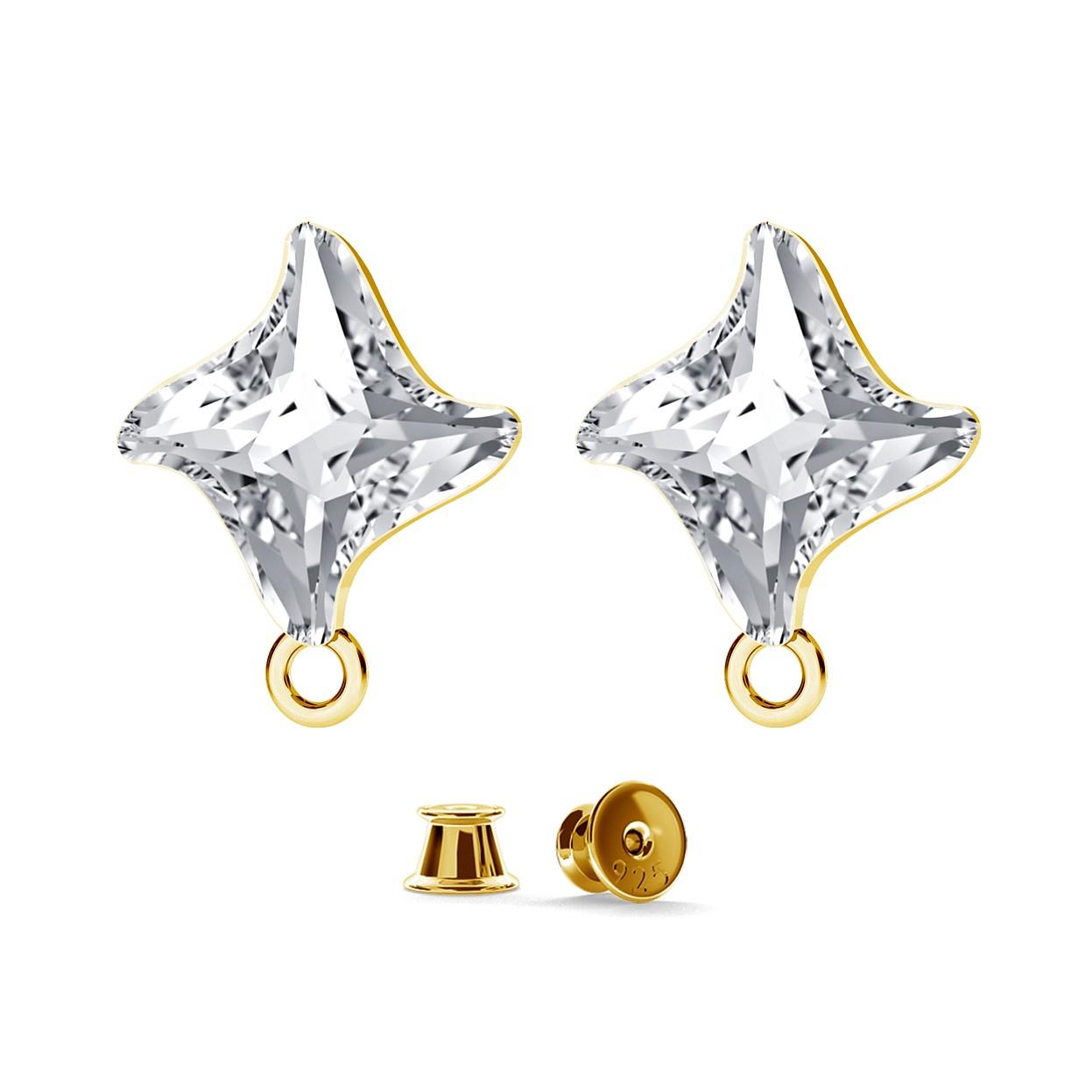Earrings swarovski twist charms base