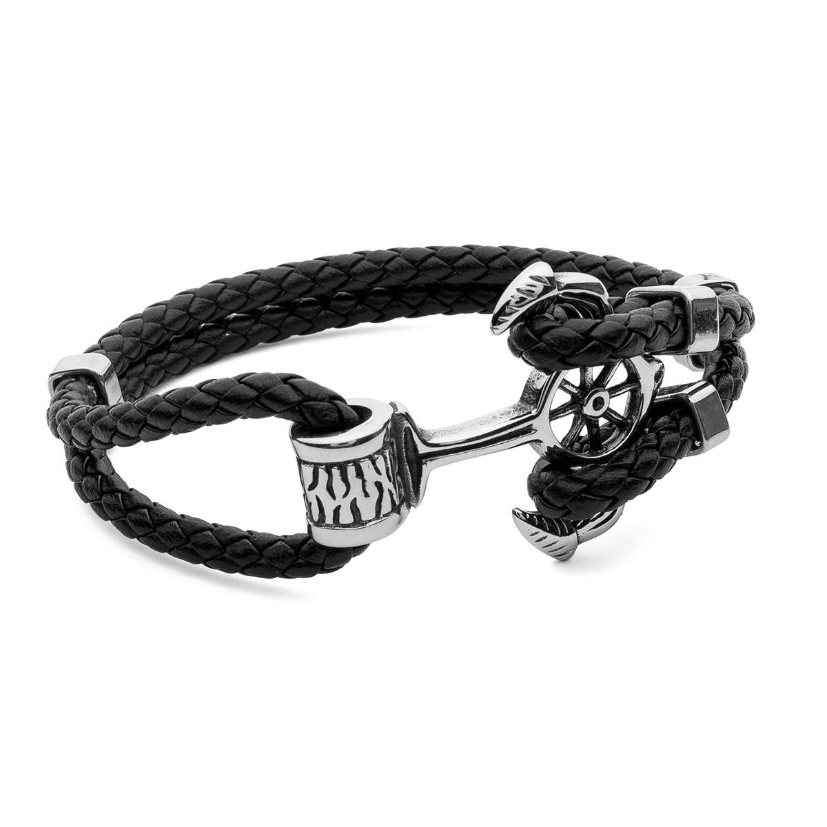 Bracelet ancre, acier - modèle 001
