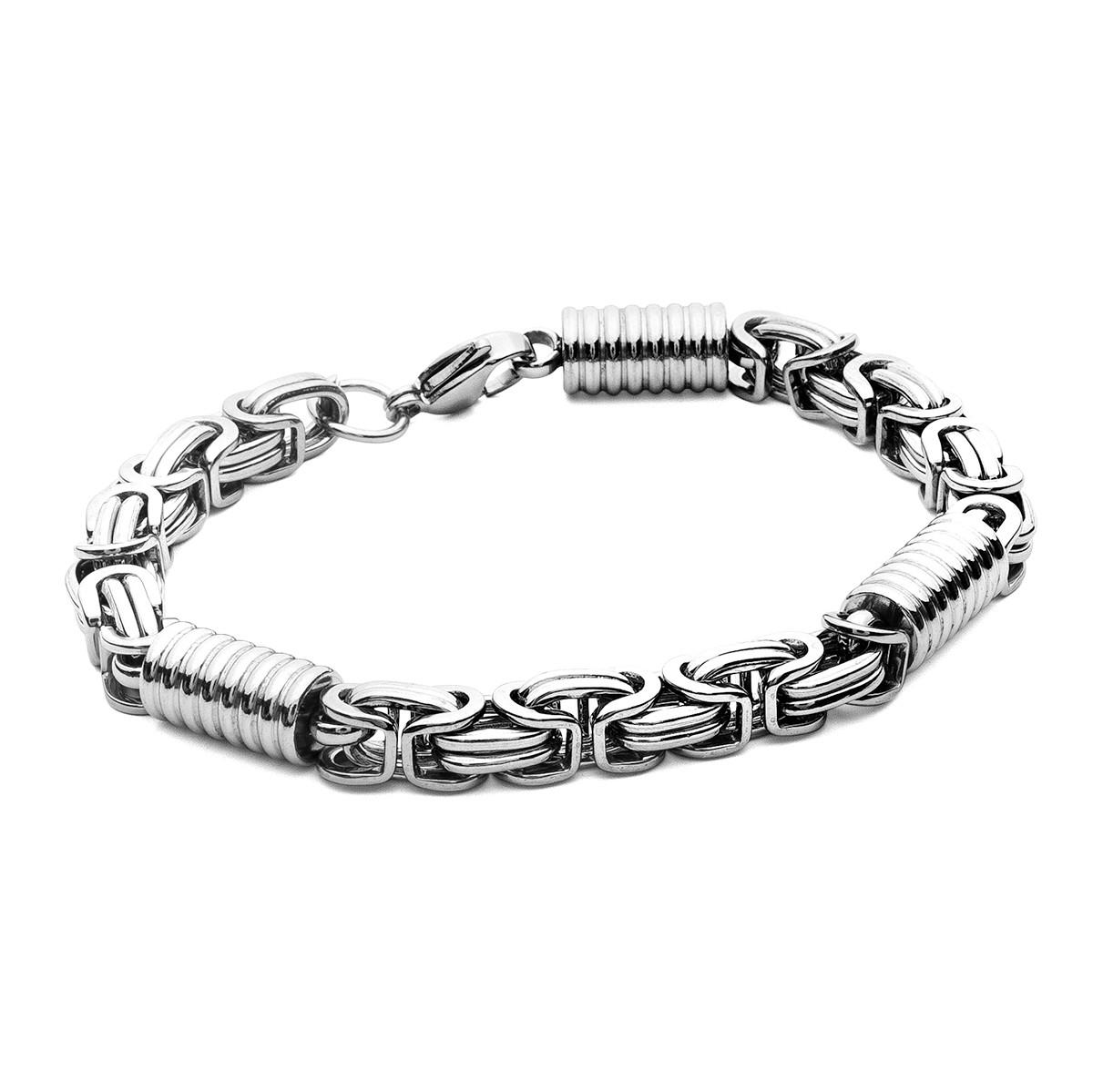 Bizantine bracelet, steel - model 010