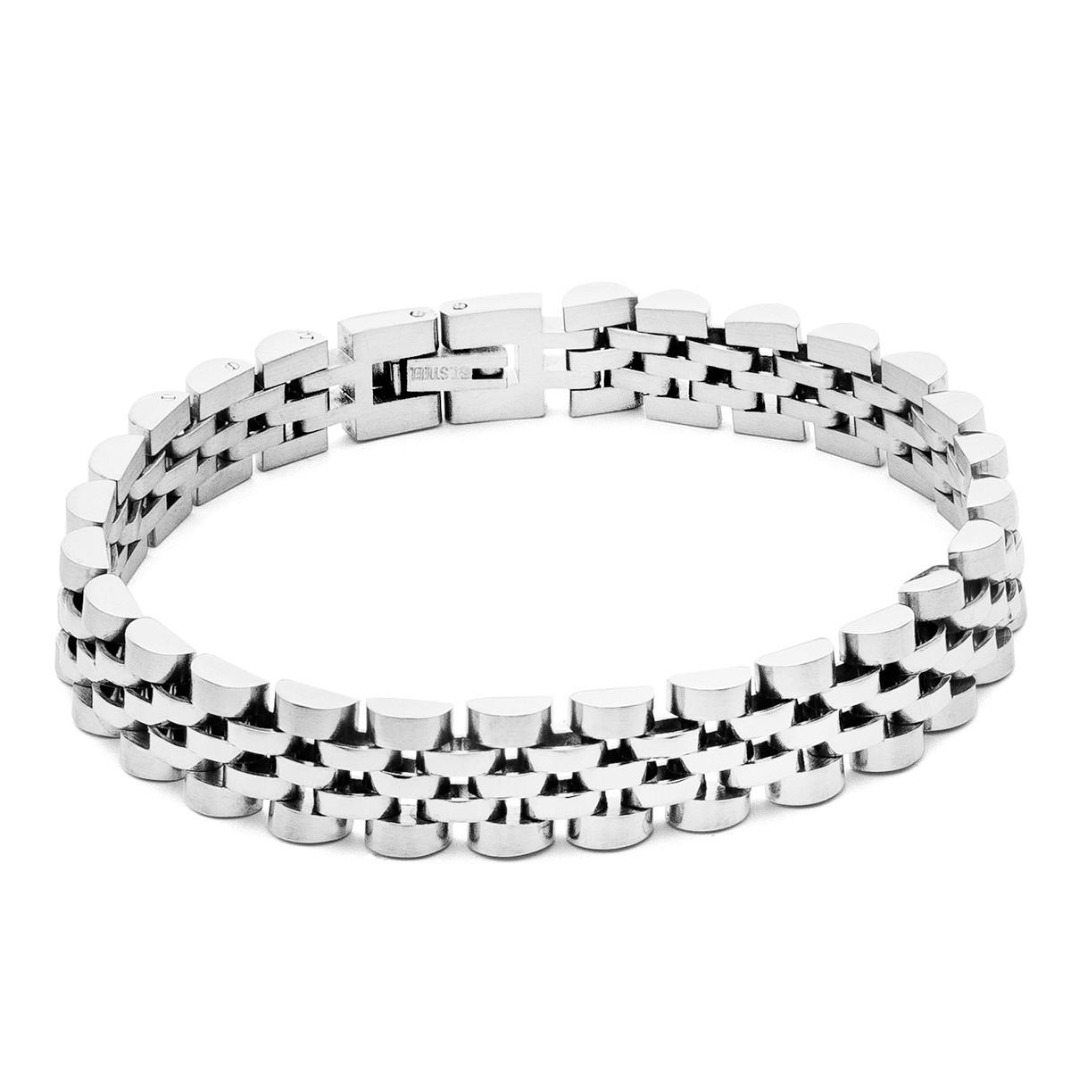 Men bracelet, steel - model 014