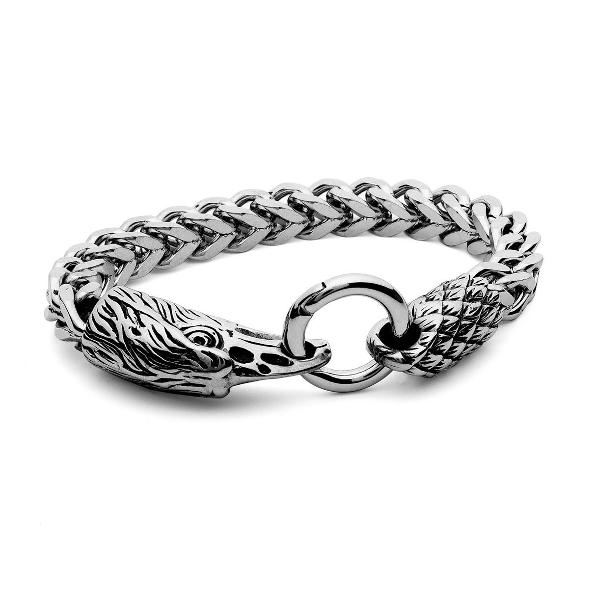 Bracelet aigle, acier - modèle 015