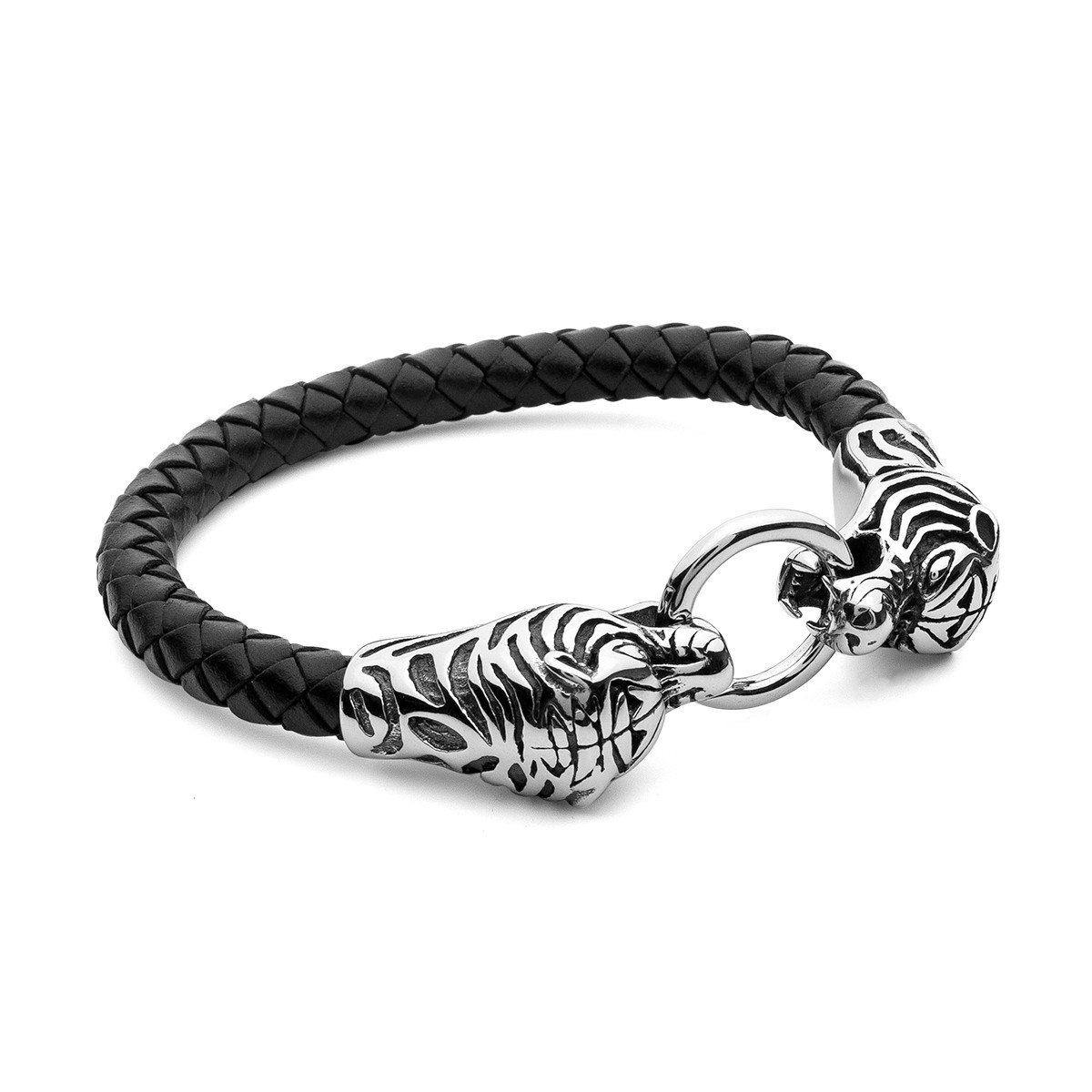 TIGER BRACELET, STAINLESS STEEL - MODEL 030