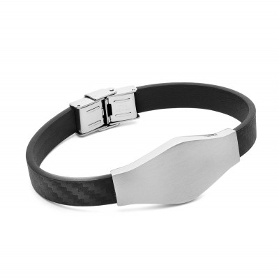 PERSONALIZED RECTANGLE BRACELET, STEEL - MODEL 041