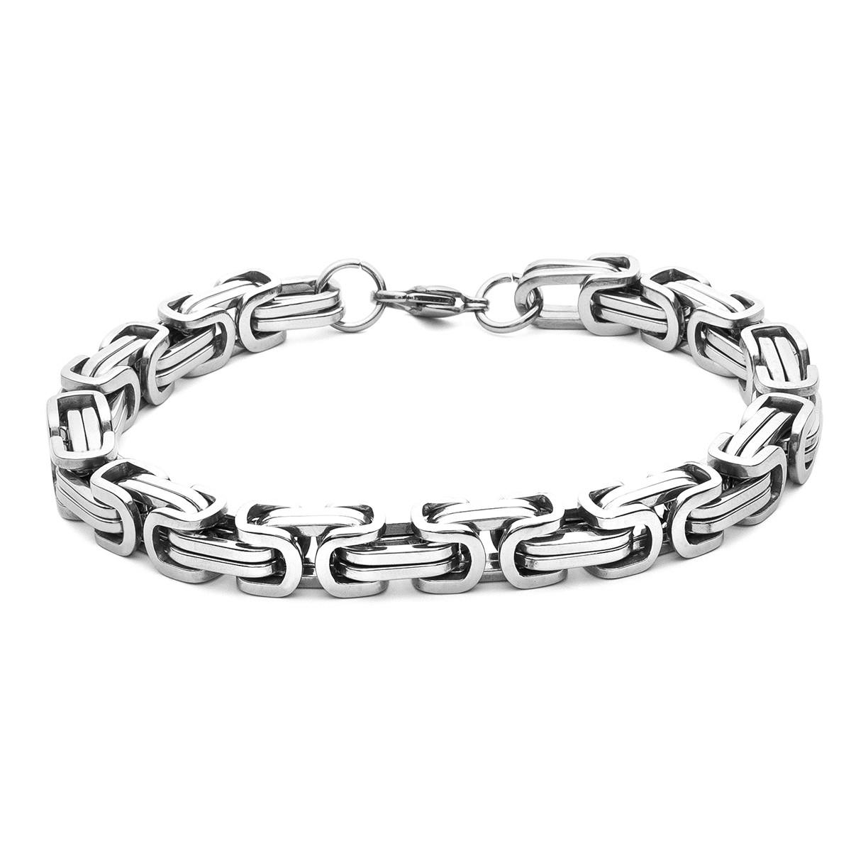 Bracelet bizantine, acier - modèle 024