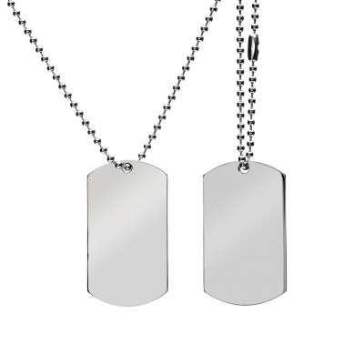 DOGTAG SET - 70CM - STEEL - MODEL 004