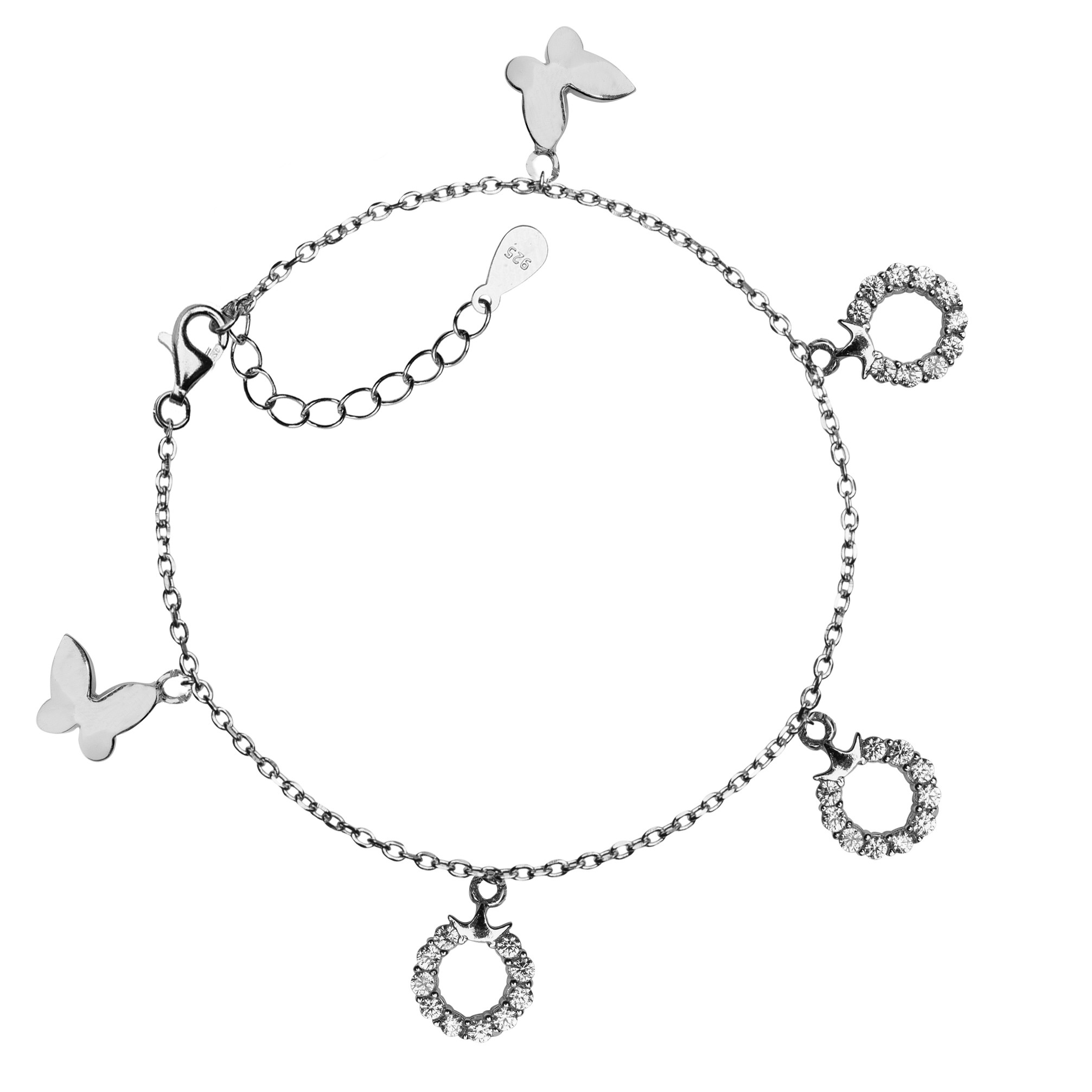 BRACELET WITH CHARMS AND CRYSTALS MODEL  A006