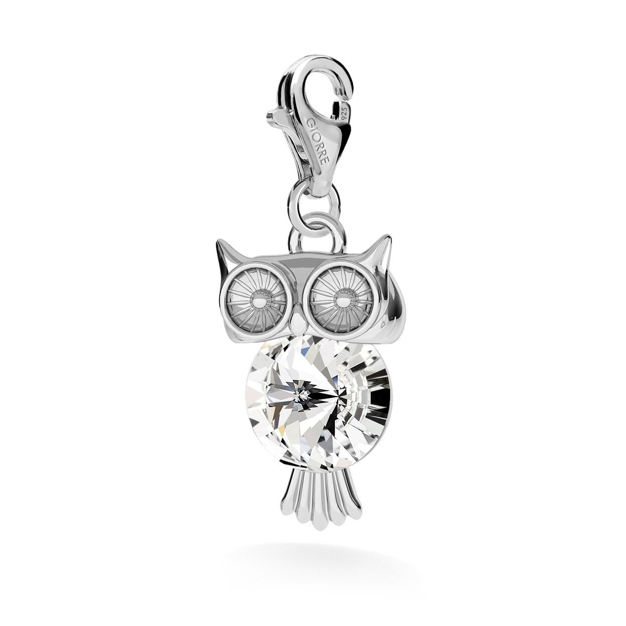 OWL WITH SWAROVSKI, CHARMS 143