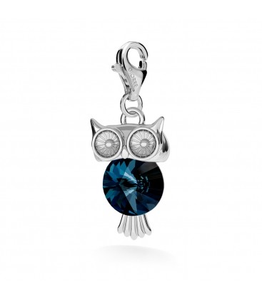OWL WITH SWAROVSKI RIVOLI, CHARMS 265