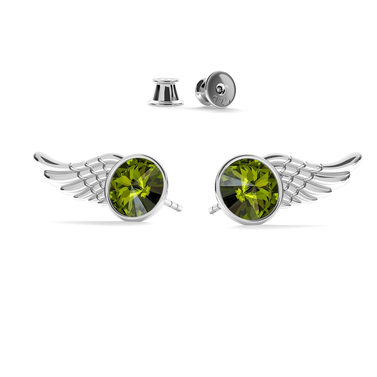 WING EARRINGS SWAROVSKI RIVOLI