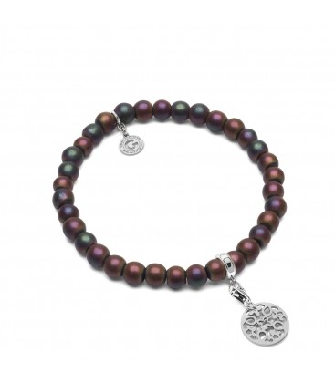HEMATITE MULTICOLOR, FLEXIBLE BRACELET WITH NATURAL STONES