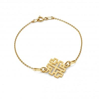 GREEK STYLE BAR GOLD BRACELET 14K, MODEL 188
