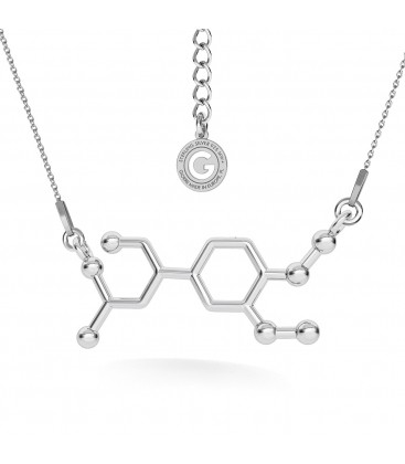 NECKLACE ADRENALIN CHEMICAL FORMULA, STERLING SILVER 925