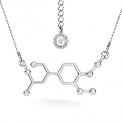 NECKLACE VITAMIN C CHEMICAL FORMULA, STERLING SILVER 925