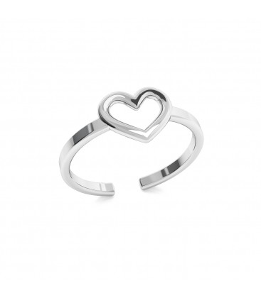 Anello di cuore, argento