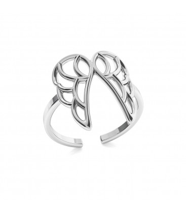 Angel wings ring, silver 925