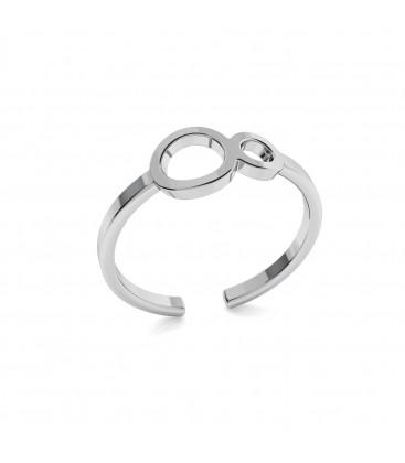 Srebrny pierścionek nieskończoność 925