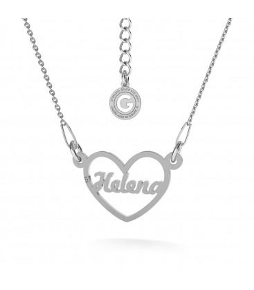 Your name heart necklace