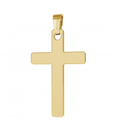 GOLD CROSS PENDANT 14K, GIORRE