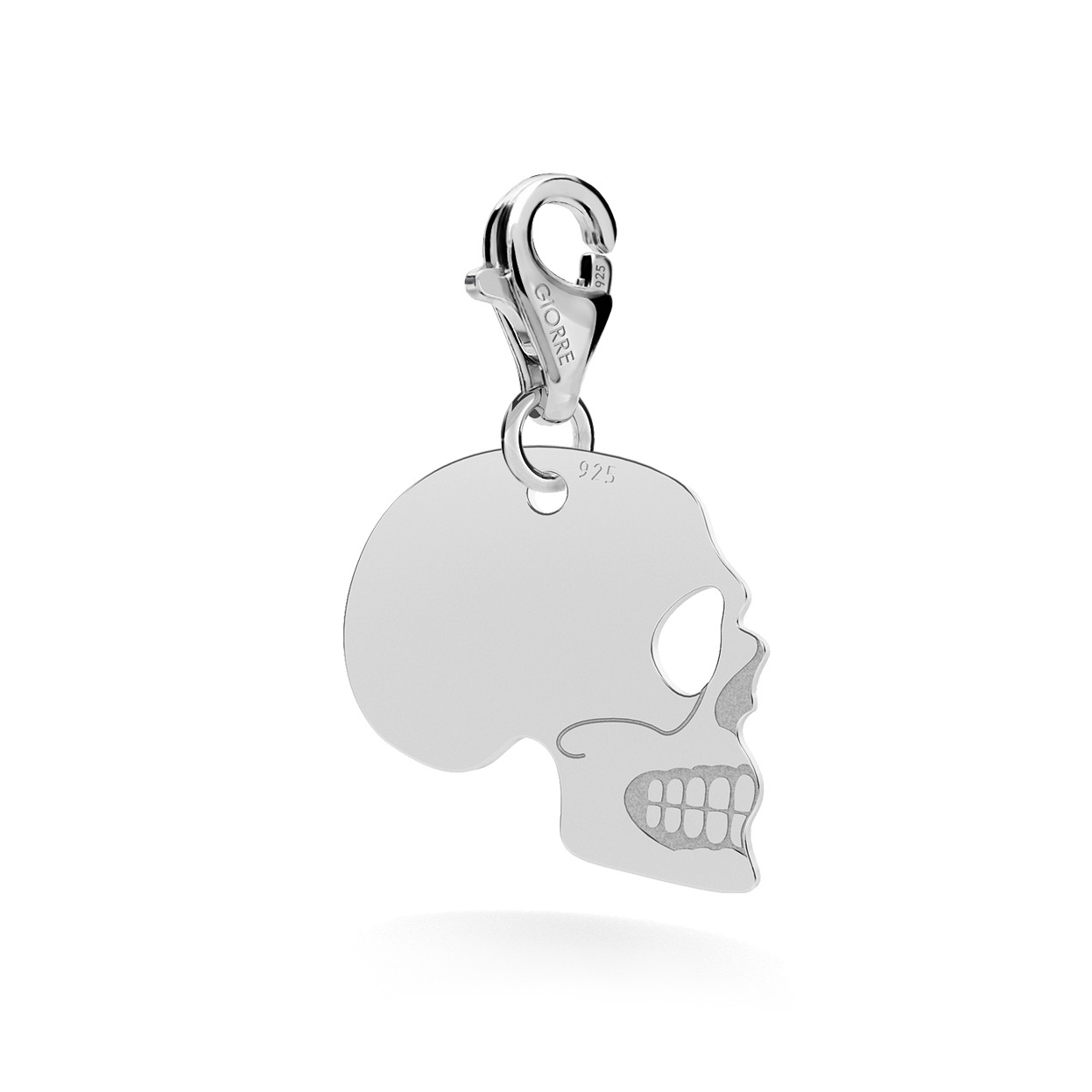 VITAMIN C CHEMICAL FORMULA CHARMS, STERLING SILVER 925