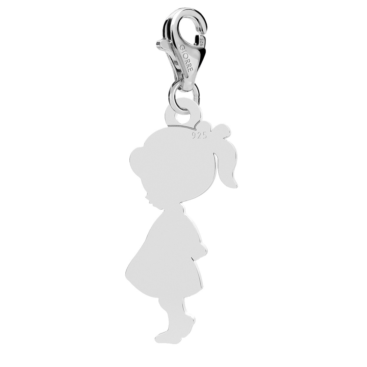 BOY CHARMS WITH ENGRAVING, STERLING SILVER 925