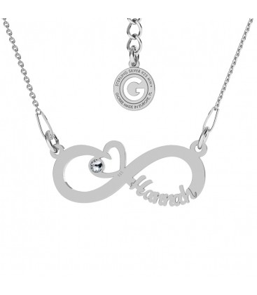 INFINITY SIGN WITH YOUR NAME NECKLACE STERLING SILVER 925