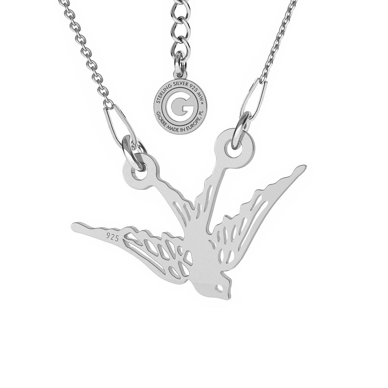 BIRD NECKLACE STERLING SILVER 925